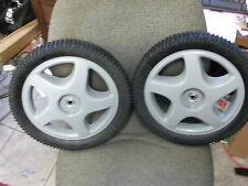 "CRAFTSMAN 14"" WALK-BEHIND MOWER HIGH WHEELS 180552 PAIR & FITS POULAN HUSQVARNA"