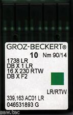 GROZ BECKERT LEATHER POINT INDUSTRIAL SEWING MACHINE NEEDLES DBX1LR SIZE 90/14
