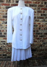 CHRISTIAN DIOR 2PC SKIRT WHITE SUIT SIZE 14