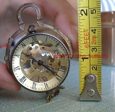 Victorian brass Crystal Ball mechanical watch clock,  work well
