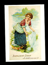 (Ref-4401) Postcard - Advertising Sunlight Soap - Not used 2 scans