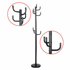 Metal Coat Rack Hat Stand Tree Hanger Hall Umbrella Holder Hooks Black