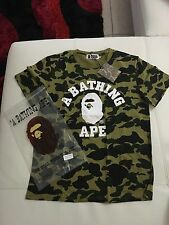 A Bathing Ape Bape 1st camo bape tee T shirt Yellow/Green camo Xl
