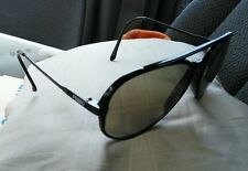 SUPER Black Primo Ultra Retro Aviator Sunglasses made in Japan