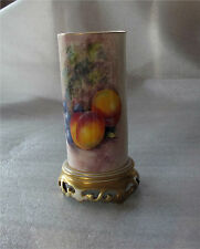 Royal Worcester Tusk Vase Hand Painted, Fruit, Peaches by J. COOK  1951
