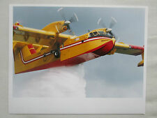 PHOTO PRESSE AVION CANADAIR CL-415 AMPHIBIAN FIRE MEDITERRANEAN AIR SERVICE