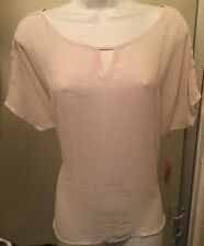 Beautiful~forever 21~beige~sheer~Women's~Blouse~Size M New