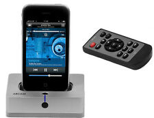 Arcam IR Dock Ipod Dock with Remote Heavy Aluminum Base!