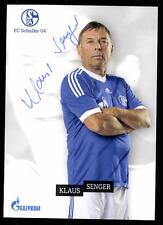 Klaus Senger AUTOGRAFO biglietto FC Schalke 04 ORIGINALE FIRMATO + a 112487