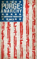 "PURGE 2: ANARCHY - 2014 - orig 27x40 'Flag"" ADVANCE movie poster - COURTNEY PALM"