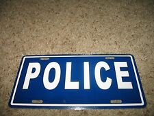 (new) Police Blue Aluminum License Plate Tag