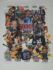 MTV 1980'S COLLAGE - ET ALF THRILLER BOY GEORGE - XL WHITE T-SHIRT- E1296