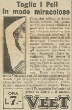 W5853 Crema depilatoria Veet - Pubblicità 1928 - Advertising