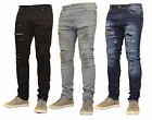 Mens Skinny Jeans Rip Slim fit Stretch Denim Distress Frayed Biker Jeans Boys