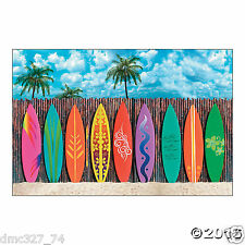 LUAU Beach Party Decoration Wall Mural SURF'S UP Surfboard BACKDROP Photo Prop