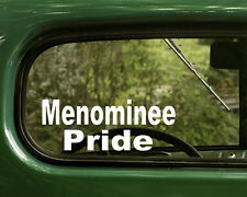 Menominee Sticker Decal Pride (2) Native American Window, Car, Laptops