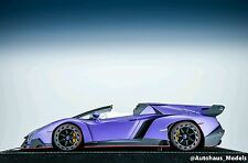 1/18 MR Lamborghini Veneno Roadster Matt Purple Alcantara Base Lim 25