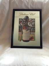 STADIUM CLUB CANADIAN CLUB WHISKEY BAR FRAMED MIRROR MAN CAVE BASEBALL THEME
