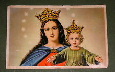 OUR LADY HELP OF CHRISTIANS EXTRA LARGE ARTISTICAL DON BOSCO NOVENA HOLY CARD