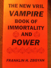 VAMPIRE BOOK OF IMMORTALITY AND POWER new vril