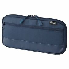 LIHIT LAB Japan Pen Pencil Actact Travel Case Pouch 220mm A7686-11 Navy