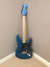 Warmoth Custom Fender Strat Stratocaster setup for Lefty Lake Placid Blue