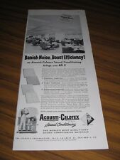 1957 Print Ad Acousti-Celotex Sound Conditioning Ceilings Sinclair Oil Chicago