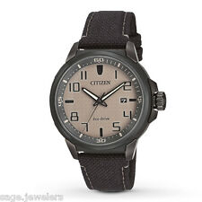 Citizen Men's AR Eco-Drive Nylon Strap Analog 43mm Watch AW1465-06H