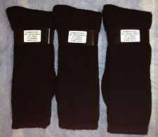 4pr Men's WARM GEAR 80% Merino Wool Boot/Outdoor Socks DK BLACK 10-13 LG