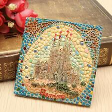 Spain Barcelona Sagrada Família Tourist Souvenir 3D Resin Mosaic Fridge Magnet