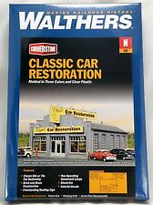 N Scale Classic Car Restoration Structure Kit - Walthers #933-3824