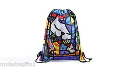 AUTHENTIC ROMERO BRITTO CAT DRAWSTRING BAG