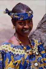 747047 Fulani Girl With Tattooed Lips And Amber Beads Mopti Mali A4 Photo Print