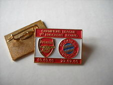 a1 BAYERN MUNCHEN - ARSENAL cup uefa champions league 2005 spilla football pin