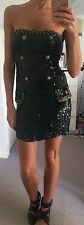 Topshop Unique catwalk runway sequin military bandeau bustier mini dress 8 £200!
