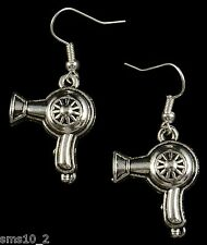 Hand Made Silver Colour Hairdryer Earrings  HCE280
