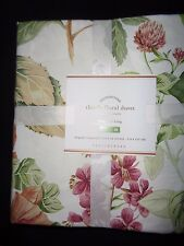 Pottery barn THISTLE FLORAL PRINT ORGANIC DUVET COVER-FULL/QUEEN-NEW W/ TAGS