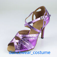 Ladies Samba Ballroom Latin Tango Salsa Dance Shoes Heels Sandals 34-42 3Colors