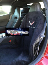 C7 2014 - 2015 Corvette Seat Armour 100% Cotton Black Silkscreened Seat Towel