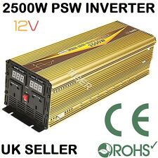 2500W/5000W(Surge) PURE SINE WAVE DC12V-AC240V POWER INVERTER DIGITAL DISPLAY
