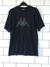 MENS URBAN VINTAGE RETRO BLACK KAPPA SHORT SLEEVE T SHIRT TOP SIZE LARGE #15