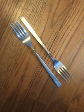 """Japan Continental Stainless Satin Handle CSS21 Blk Texture 2 DINNER FORKS 7 3/8"""""""