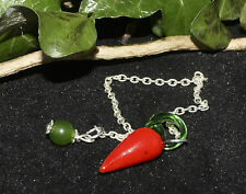 Handmade Chilli Pepper Pendulum for divination - Pagan, Wiccan, Witchcraft