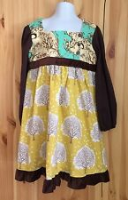 MOXIE & MABEL HOPSCOTCH DESIGNS Girls COUTURE Dress Size 6 Tree Print