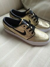 Nike SB Zoom Stefan Janoski Trainers Size UK 8.5 Gold