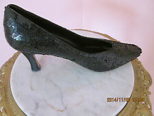 The PM Collection by 9 2 5 Black sequence satan heels SZ 11M