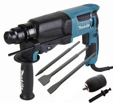 Makita HR2630 sds + 3 mode perceuse à percussion + point + ciseaux + mandrin 240V
