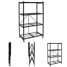 Origami Storage Solutions R1407W Four Shelf Steel Collapsible Storage Rack