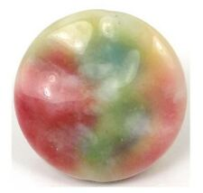 35mm Watermelon Jade Wavy Disc Pendant Bead II