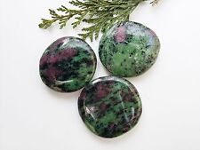 Large A Grade Ruby in Zoisite Crystal Palmstone - 45-50mm - Tumblestone